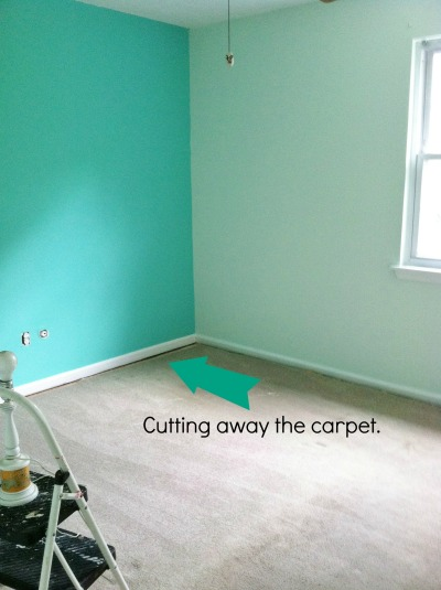 Cutting away the carpet
