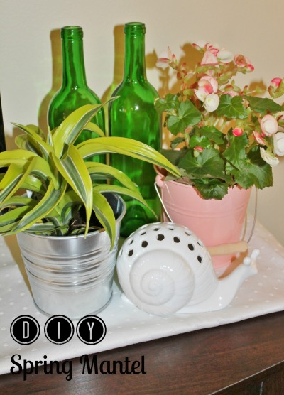 diy spring mantel