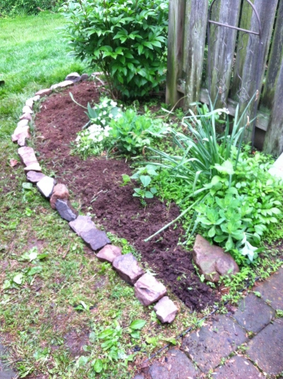 Edging the Flower Bed