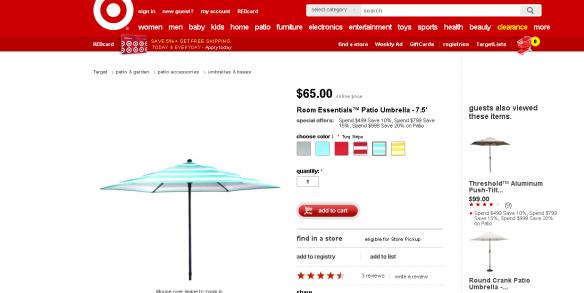 target umbrella